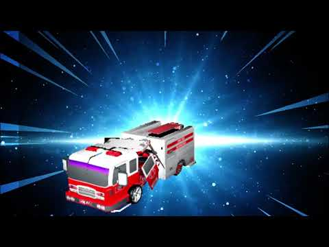 video review of Fire Truck Robot Car Game