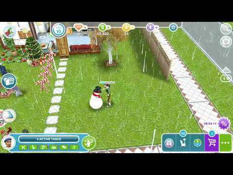 The sim freeplay - omg! Chatting with snowman