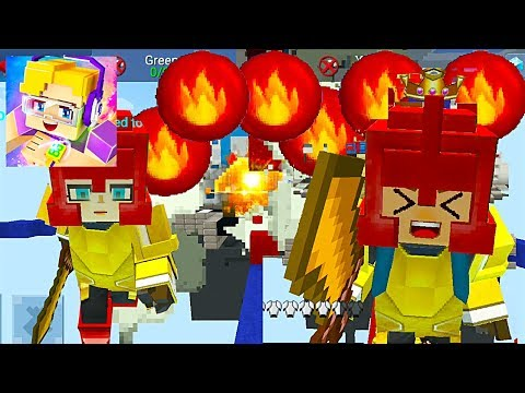 Blockman GO: Bed Wars Ep.11 - Very Many FLAME Bomb in the Minecraft Mode (Android Games)