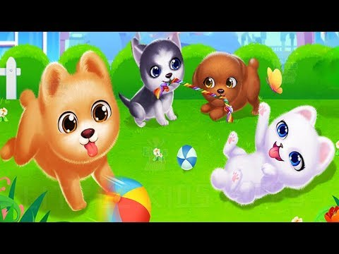 Play with Puppy Friend Cute Pet Dog Care Games - Learn to Feed and Dress Up Cute Puppies