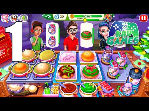 Christmas Fever : Cooking Games Madness Gameplay Walkthrough #1 (Android, IOS)