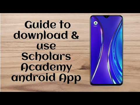 Scholar's app installation guide for android