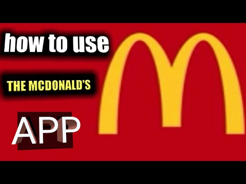 how to use the McDonald's app  Part 1