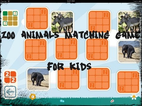 Zoo Animals Matching Game for Kids iPad App Review   CrazyMikesapps