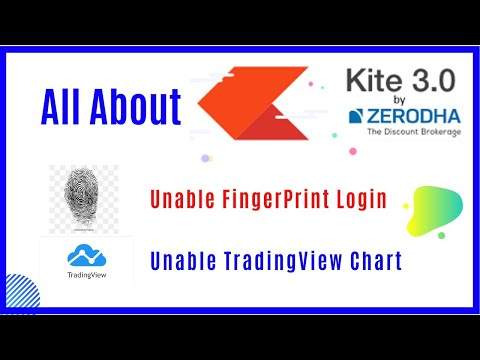 All about zerodha kite 3.0 । How to unable fingure print login in kite app।