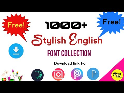 1000  stylish fonts collection Download Link| How to add fonts in pixellab|Ttf fonts download link