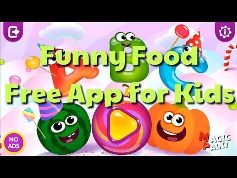 [Funny Food 4 App] Magic Paint ABC - ABC games for toddlers and babies! kid!