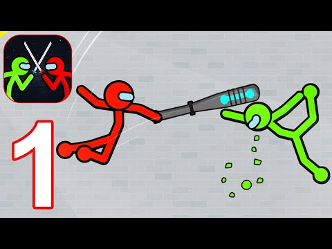 Supreme Stickman Fighting: Stick Fight Games - Gameplay Walkthrough Part 1 (Android, iOS)
