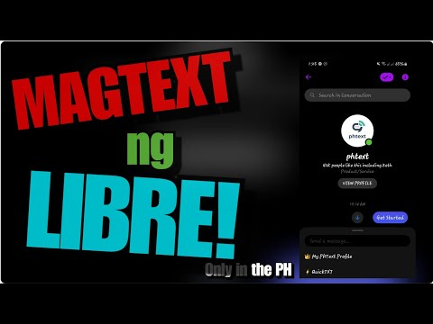 PHTEXT FB MESSENGER | HOW TO SEND TEXT (SMS) FOR FREE