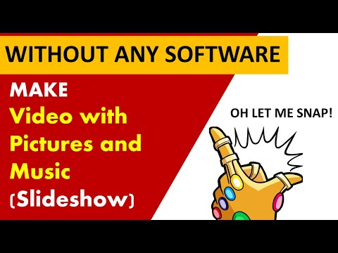 how to make a video with pictures and music online | how to make a youtube video | photo slideshow