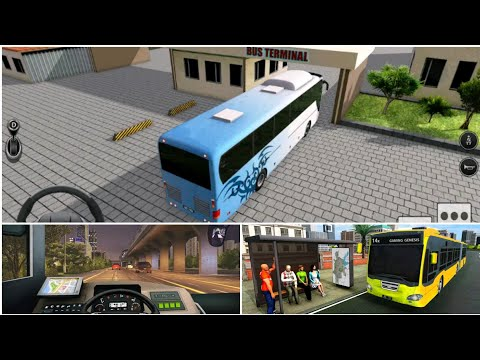 Modern City Bus Driving Simulator | New Games 2020| Android Game play | 4x4