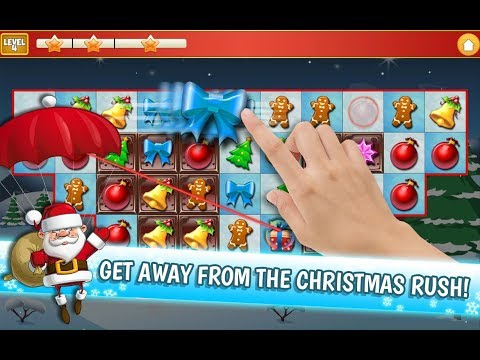 Christmas Crush Holiday Swapper Candy Match 3 Game | Christmas Games | Santa Claus gameplay