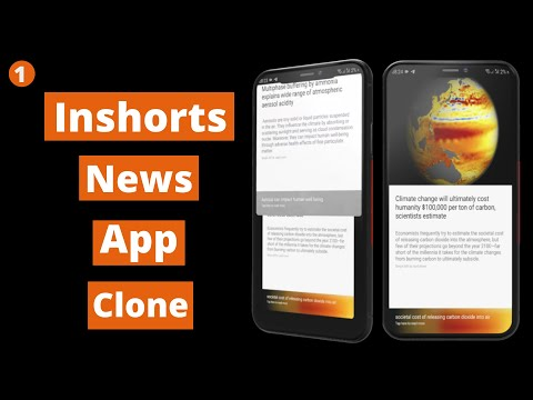 Inshorts News App Clone | Vertical ViewPager | Android Studio Tutorial