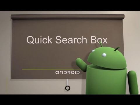 Android Tips: Quick Search Box