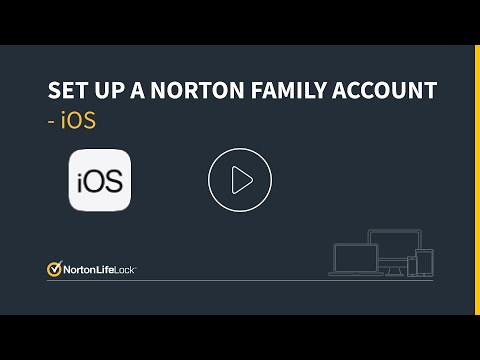How to setup a Norton Family account on an iOS device