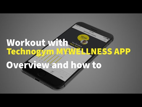 Workout with Technogym Mywellness mobile app - Overview and how to