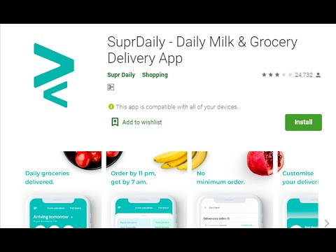 Supr Daily App Review | Daily Needs items at door step | Online App for Daily Milk Delivery
