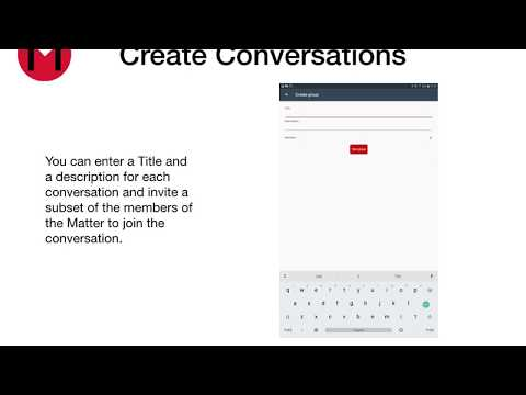 myLawyer - How to create a new matter - Android