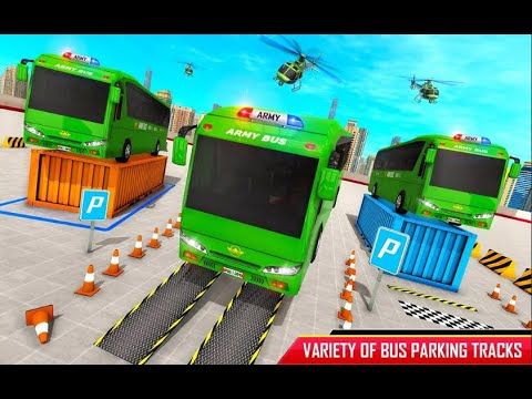 Army Bus Parking Game – Army Bus Driving Simulator_ Android Gameplay [HD] _Million Games