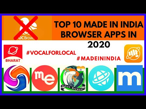 Top 10 Best Indian Browser Apps in 2020 | Made In India Browser App | #VocalForLocal
