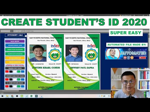 How Make Student's ID - Super Easy Tutorial