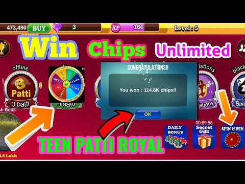 TEEN PATTI ROYAL, WIN CHIPS UNLIMITED TRICKS & TIPS 2019