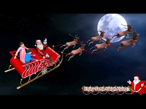 Christmas flying Santa Gift Delivery##