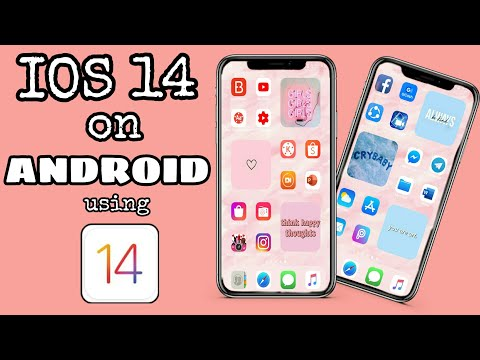 IOS 14 ON ANDROID | How to customize aesthetic IOS 14 on your android phone?