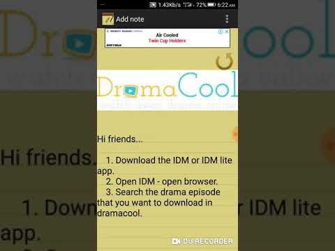 How to download dramas from dramacool using IDM lite app