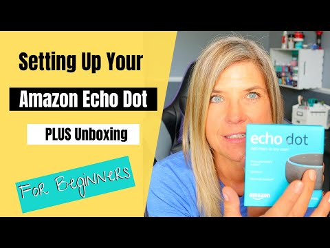 Setting up Amazon Echo Dot Unboxing and Connecting it.