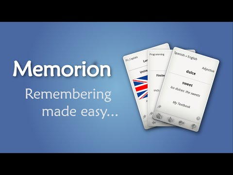 video review of Memorion Flashcard Learning