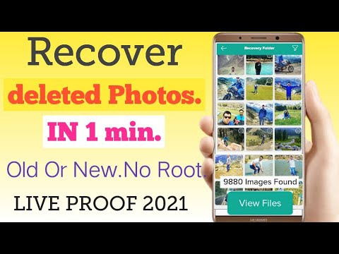 in 1 min_how to recover deleted photos from android without backup_no root.live proof 2021
