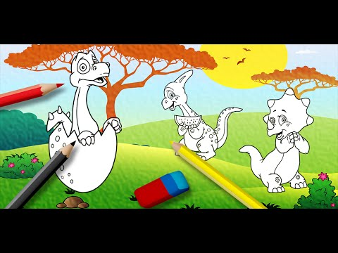 video review of Kids Dinosaur Coloring Pages