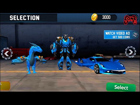 Dragon Robot Car transform – robot games 2020 - Android Gameplay FullHD 60fps