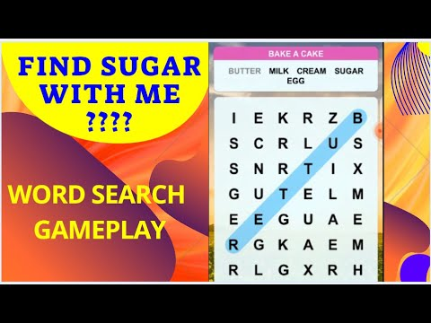 Can you find the sugar???Word Puzzle, Word Search.
