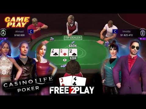 CasinoLife Poker ★ Gameplay ★ PC Steam [ Free to Play ] game 2020 ★ Ultra HD 1080p60FPS