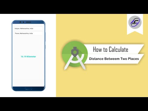 How to Calculate Distance Between Two Places in Android Studio   CalculateDistance   Android Coding