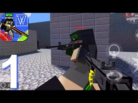 War Cube Online Offline Mobile Zombie Sniper Shoot - Gameplay Walkthrough Part 1 (Android Game)
