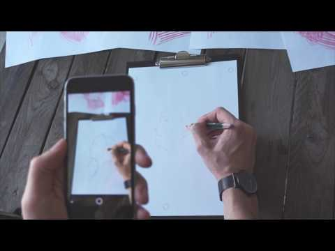 Drawing a portrait using augmented reality and SketchAR app