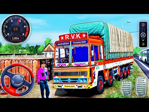 Indian Truck Driving Simulator 2021 - Real Euro Cargo Truck Drive - Android GamePlay