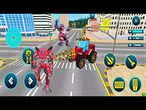 Giant Robot  Excavator Transformer Boss Robot Android GamePlay FHD