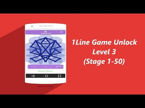 1Line Game Unlock Level 3 (Stage 1-50)