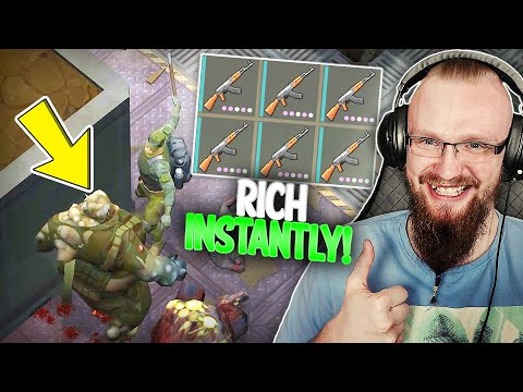 HOW TO GET RICH INSTANTLY in LDOE?! (Wall Trick) - Last Day on Earth: Survival