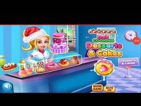 Christmas doll cooking  deserts & cakes kids game
