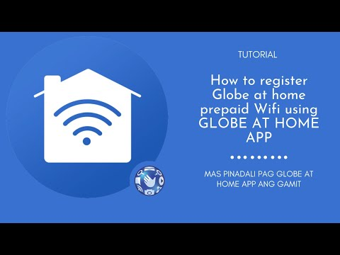 How to register Globe at home prepaid Wifi using GLOBE AT HOME APP