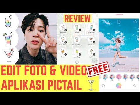 [REVIEW] PICTAIL APP EDIT PHOTO & VIDEO ALA ARTIS K-POP DEWY | APLIKASI FOTO PICTAIL ON ANDROID FREE