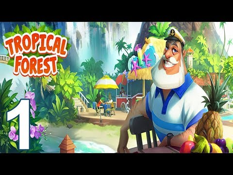 TROPICAL FOREST Story Gameplay Walkthrough Part 1 - DAY 1 (iOS Android)