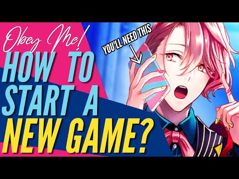 Obey Me! - HOW TO RESTART A NEW GAME / NEW ACCOUNT