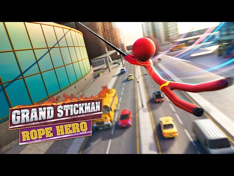 video review of Grand Stickman Rope Hero Crime City