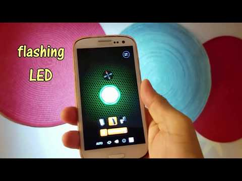 Flashlight Galaxy demonstration - top rated flash light Android app